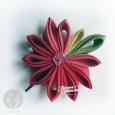 Цветы из ткани 10