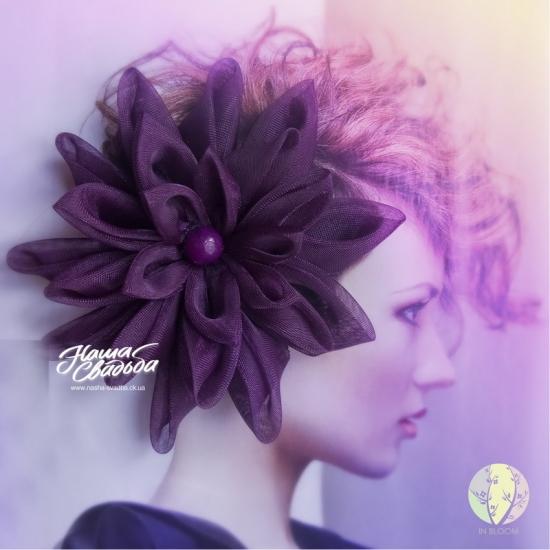 Цветы из ткани 18