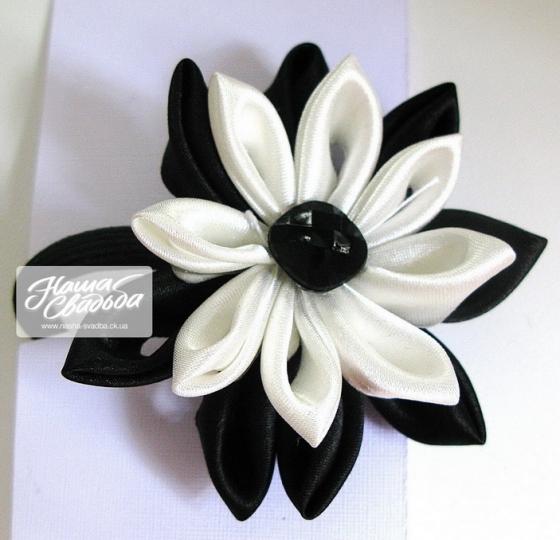 Цветы из ткани 09